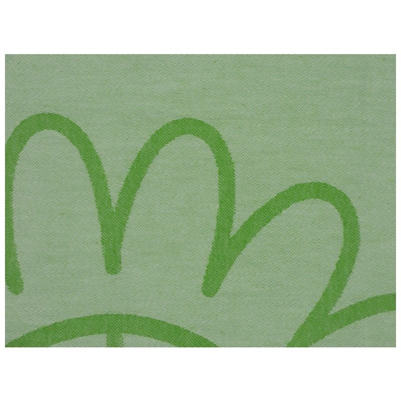 "Strandtuch ""Cala Vedella"" (100 x 190 cm) - Fresh Apple - Rückseite Detail"