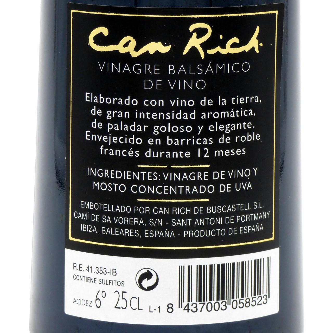Bild von Balsamico Weinessig (250 ml) - Can Rich