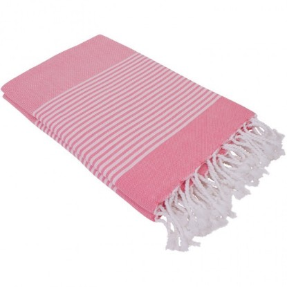 "Bild von Strandtuch ""Cala Nova"" Super Lang (100 x 200 cm) - Lovely Pink"