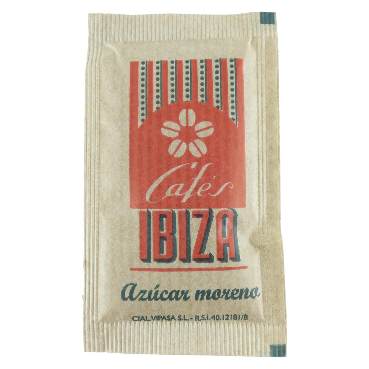 Bild von 50 Stück Zuckerpäckchen (brauner Zucker) - Cafés Ibiza