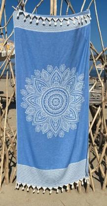 "Bild von Strandtuch ""Cala Moli"" (95 x 200 cm) - Victoria Blue"